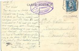 CAFÉ-RESTAURANT FREUDENREICH N. KIESGEN LA SCHLUCHT + STOSSWIHR HAUT RHIN TàD 16-7-26 - Postmark Collection (Covers)