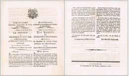 Colmar 28.2.1815 Circulaire Sur L'Organisation Du Service Des Incendies Français/Allemand Héraldique - Documentos Históricos