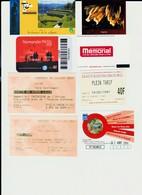 Lot 8 Tickets Hétéroclites Entrées Musées, Expos Sites Reims, Lille, Débarquement Normandie, Padirac, Resistance Vercors - Tickets - Vouchers