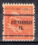USA Precancel Vorausentwertung Preo, Locals Pennsylvania, Shenandoah 704 - Vereinigte Staaten