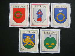 Lietuva Litauen Lituanie Litouwen Lithuania 2003 MNH #Mi. 809/3 Town Arms - Lithuania