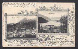Schweiz Suisse 1902: Davos Dorf & Davos See (Verlag Von Philipp Bauch, Davos 4974/75) Mit O DAVOS-DORF 22.II.02 - GR Grisons