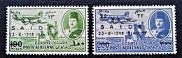 ROYAUME - SURCHARGE 1948 - NEUFS** - YT PA 41/42 - MI 326/27 - Egypt