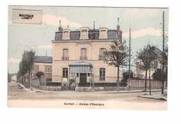 91 Corbeil Banque Caisse D' Epargne Cpa Colorisée Carte Couleur Cachet 1917 - Corbeil Essonnes