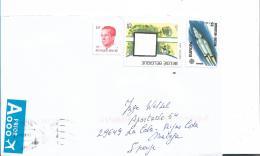 B395 / Mischfrankatur 2018 Nach Spanien - Briefe U. Dokumente