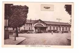 91 Corbeil La Gare Cpa Animée Vieille Voiture Auto , Rare Avec Cette Animation - Corbeil Essonnes