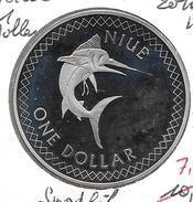 *Niue 1 Dollar 2010  Km ?? SWORDFISCH 38 MM Proof - Niue