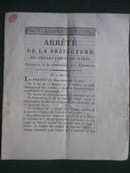 GARD  -  NIMES  & ST. ANDRE DE VALBORGNE    -   ARRETE.....  RELATIF A LA COMPTABILITE  DES COMMUNES ......    8  PAGES - Manuscrits