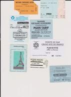Lot De 8 Tickets Transports Maritimes, Visites Capri, Martinique, Paris, Bretagne, Marseille - Unclassified