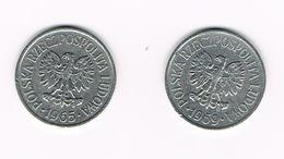 POLEN  2 X 20 GROSZY  1965/69 - Polonia