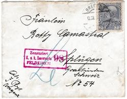 Lettre 1916 Bregenz Autriche Österreich Splügen Suisse Zensuriert Feldkirch Censure Première Guerre Mondiale WW1 - Brieven En Documenten