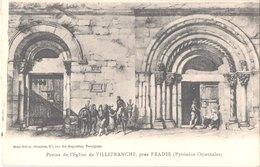FR66 VILLEFRANCHE DE CONFLENT - Brun - Portes De L'église - Belle - Frankreich