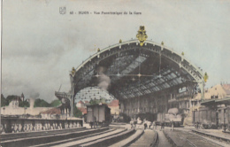 DIJON                 VUE PANORAMIQUE DE LA GARE.   COLORISEE - Dijon