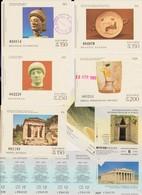 Lot De 8 Tickets Visites Sites Archéologiques Athènes 1985 Et 2012 Acropole Olympia Delphes Musées - Tickets - Vouchers