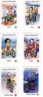 6 Cartes D'un Jeu De 7 Familles / Sécurité Routière / Vélo Bicyclette Cyclisme Bicycle - Unclassified