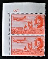 ROYAUME - POSTE AERIENNE 1947 - PAIRE NEUVE ** - YT PA 29 - MI 305 - COIN DE FEUILLE - Egypt