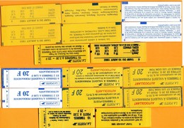 Petit Lot Carnets-( Non Ouvert)-  ( Recto/verso)- - Booklets