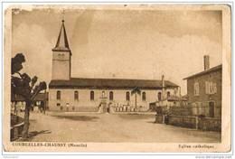 CPA COURCELLES CHAUSSY - Eglise Catholique - Autres Communes