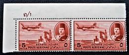 ROYAUME - POSTE AERIENNE 1947 - PAIRE NEUVE ** - YT PA 31 - MI 307 - COIN DE FEUILLE - Egypt