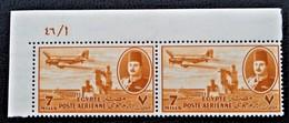 ROYAUME - POSTE AERIENNE 1947 - PAIRE NEUVE ** - YT PA 32 - MI 308 - COIN DE FEUILLE - Egypt