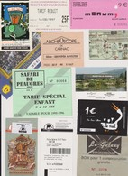 Lot De 13 Tickets Hétéroclites Visites, Discothèques Egypte, Tunisie, Nantes, Musée - Tickets - Vouchers