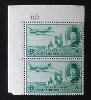 ROYAUME - POSTE AERIENNE 1947 - PAIRE NEUVE ** - YT PA 33 - MI 309 - COIN DE FEUILLE - Egypt