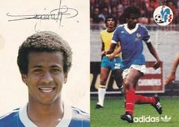Jean  TIGANA   ---   Autographe Au Dos De La Carte - Soccer