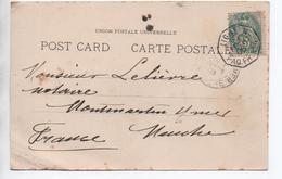 "1906 - CP PORT SAID Avec CACHET PAQUEBOT ""LIGNE N PAQ FR N 4"" - Postmark Collection (Covers)"