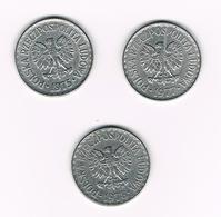 POLEN  3 X 1 ZLOTY  1975/77/78 - Polonia