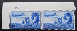 ROYAUME - POSTE AERIENNE 1947 - PAIRE NEUVE ** - YT PA 35 - MI 311 - COIN DE FEUILLE - Egypt