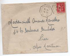 "1935 - ENVELOPPE MESSAGERIES MARITIMES Avec CACHET MARITIME ""MARSEILLE A KOBE N° 1"" - Postmark Collection (Covers)"