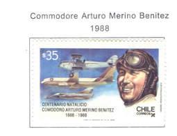Chile PO 1988 Commodoro Benitez  Scott.+784 New See Scan On Scott.Page - Cile