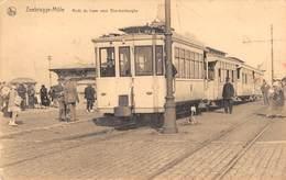 CPA -  Belgique, ZEEBRUGGE MOLE,  Arret Du Tram Vers Blankenberghe. - Zeebrugge