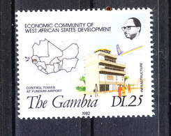 Gambia   -   1982.  Costruzioni Edifici, Infrastrutture.  Buildings, Infrastructures. MNH - Fabbriche E Imprese