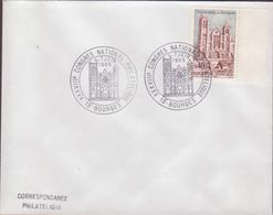 ENVELOPPE TIMBRE   1965 XXXVIII CONGRES NATIONAL PHILATELIQUE  BOURGES  CATHEDRALE - Marcophilie (Lettres)