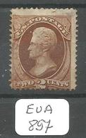 EUA Scott 146  YT 40  Brown Cancel Very Good - Used Stamps