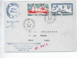 TAAF - 1980 - ENVELOPPE De MARTIN DE VIVIES ST PAUL AMS - Lettres & Documents