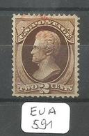 EUA Scott 157  YT 51 Red Cancel Very Fine - Used Stamps