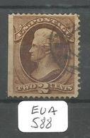 EUA Scott 157  YT 51 Silk Paper Sheet Edge - Used Stamps