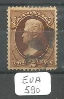 EUA Scott 157  YT 51 Ribbed Paper - Used Stamps