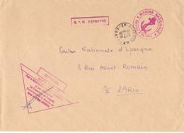 France 1976 - Base Aérienne Navale Aspretto  -  Marine Nationale - Ajaccio - Clos Par Nécessité - Marcophilie (Lettres)