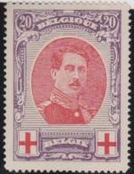 Belgie       .    OBP       .     134        .    *      .     Ongebruikt   .    /    .    Mint-hinged - 1914-1915 Croix-Rouge