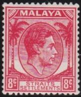 Straits Settlements    .    SG  .    8c  Never Issued      .    *      .     Ongebruikt   .    /    .    Mint-hinged - Straits Settlements