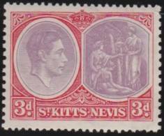 St Kitts Nevis    .    SG  .    73d   .    *      .     Ongebruikt   .    /    .    Mint-hinged - Groot-Brittannië (oude Kolonies En Protectoraten)