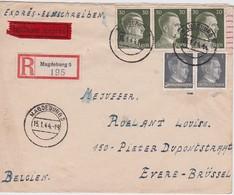 ALLEMAGNE 1944 LETTRE RECOMMANDEE EN EXPRES ET  CENSUREE DE MAGDEBURG POUR EVERE - Allemagne