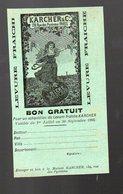 (bière) Bon Pouir Un échantillon De Levure KARCHER  1905 (PPP12391) - Publicités