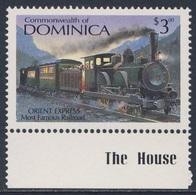 "Dominica 1987 Mi 1059 ** ""Orient Express"" - Most Famous Railroad (1883) / Zug Des Orientexpress - Treinen"