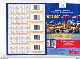 Fliers Collecteur Village En Fete Chez U Asterix Et Etc - Advertising