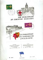 Feuillet Cachet Poste Aux Armees + Freiburg Breigau Exposition Service De L'europe - Marcofilia (sobres)