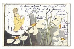 19822 - Narcisses Et Enfant ParV Attinger - Illustrators & Photographers